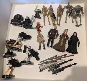 18 Star Wars Action Figure Lot Shaak-Ti Palpatine Dooku Magnaguard Droids Etc.