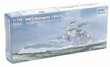 Trumpeter 05795 HMS Battleship Warspite 1942 Destroyer Plastic Model 1/700 Scale