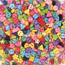 200pcs Plastic Assorted Star Heart Round Flower Button Lots Bulk Craft 6mm Cards