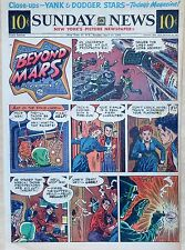 Beyond Mars by Jack Williamson - scarce full tab Sunday comic page Apr. 11, 1954