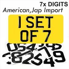 3d Gel AMERICAN JAP IMPORT Number Plates Domed Resin Making REG DIGITS SET OF 7x
