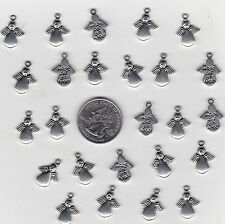 YOU GET 30 METAL SILVER TONE MADE FOR AN ANGEL CHARMS.  U.S. SELLER  - C 2