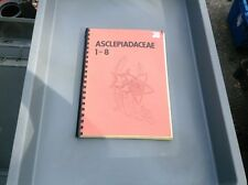 Aaclepiadaceae 1-8 Spiral Bound Academic Journal Rare