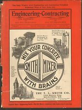 VINTAGE MAGAZINE AD #00334 -1911 SMITH CEMENT MIXER - STREET PAVER - MILWAUKEE