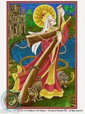 © ART - Portrait of St Saint Helen Of The Cross - Original Artist Print by Di