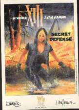 XIII Jean VAN HAMME secret défense carte postale cp cartolina postcard postkarte
