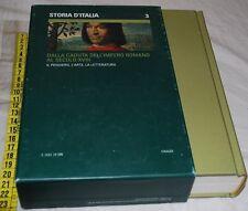 STORIA D'ITALIA 3 pensiero arte letteratura - Il sole 24 ore Einaudi Libri usati