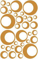 32 CARMEL TAN CIRCLE CIRCLE BUBBLE LOOK BEDROOM WALL DECAL STICKER VINYL GIRL