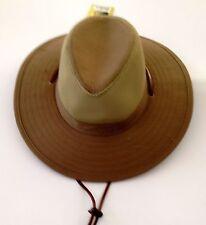 Fisherman Cowboy Crushable Wide Brim Hiking Mesh Hat Sun Cap Vented Olive M/L