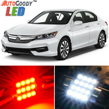 14 x Premium Red LED Lights Interior Package Kit for Honda Accord 2013-2017