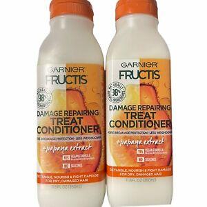 Garnier Fructis 2 Pack Repairing Treat Conditioner Papaya Extract 11.8oz ea