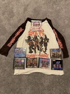 GWAR Lot - Gwar Baseball Tee Shirt Scumdogs of the Universe and GWAR CDs