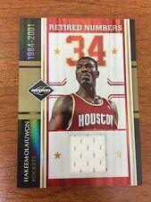 Hakeem Olajuwon 2010-11 Limited Retired Numbers #13 Houston Rockets #/99