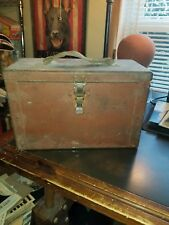 Vintage pRiMiTiVe Barn Red Paint 1900s Ammo / Tool Box