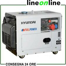 Generatore di corrente diesel 6,0 Kw trifase –5,5 Kw monofase Hyundai 65230 sile