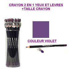 CRAYON 2 EN 1 YEUX LEVRE TAILLE CRAYON EYELINER MAQUILLAGE VIOLET CRA815