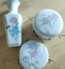 New made in Japan mini pottery craft vase set