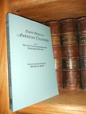 English Origins of American Colonists Genealogy Book