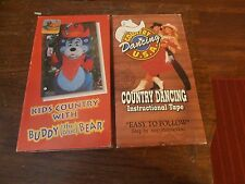 Lot of 2 VHS Kids Country with Buddy Bear & Country Dancing Instrucional Tape