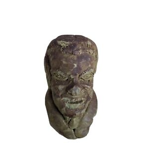 Richard Nixon Old human head Sculpture, Bust, made of clay Made in the 1930s G