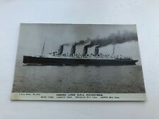 More details for early 1900s photo postcard. cunard liner r.m.s mauretania
