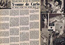 Coupure de presse Clipping 1957 Yvonne de Carlo  (2 pages)