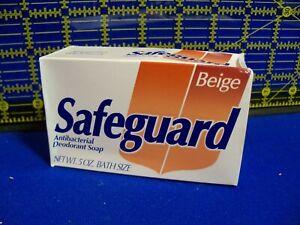 Vtg New Old Stock SAFEGUARD Antibacterial Deodorant Soap 5 OZ Bath Size Beige