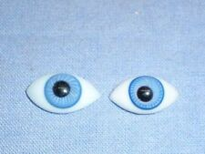 Glasaugen antik Linsenform blau 17 x 10/ eyes of glass lens shape blue 17 x 10