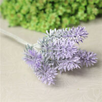 Artificial Lavender Plastic Fake Flower Bouquet Home Wedding Garden Decors DIY