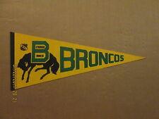 WHL Lethbridge Broncos Vintage Defunct Circa 1978 Logo Hockey Pennant