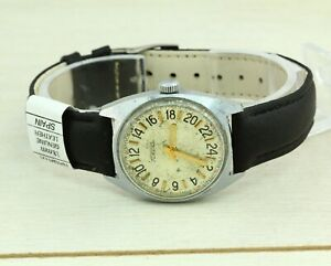 ULTRA RARE early 1970's Raketa 24 hours USSR Soviet collectible watch Cal. 2623