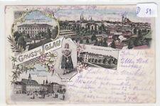 429, Iglau tolles Mehrbild Litho mit Schule und Kaserne gelaufen 1899 !