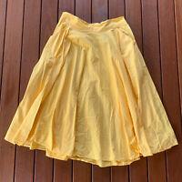 Betty Le Bonbon Size 14 Circle Skirt Bright Yellow Knee Length Hand Made