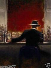 MODERN ABSTRACT HUGE WALL ART OIL PAINTING ON CANVAS The Bar Man No Frame