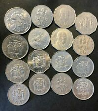 Old Jamaica Coin Lot - 16 High Grade Large Size Coins - Lot #M23