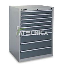 Cassettiera fissa industriale BETA C35 9G con 9 cassetti grigia 700x600xH1000