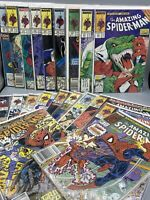 AMAZING SPIDER-MAN LOT Early Todd McFarlane Art!20 Books Bagged And Boarded