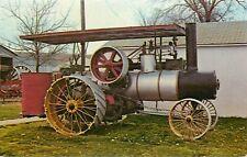 Russell Steam Traction Engine Threshing Pioneer Village Nebraska Postcard