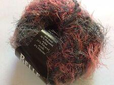 Zitron Belle Epoque #09 Grey Red-Pink + Wool Boucle & Sparkly Eyelash Blend Yarn