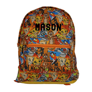 The Lion King Officially Licensed Pattern Backpack- Plain/Personalised School