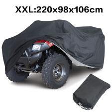 XXL Heavy Duty Waterproof ATV Cover For Polaris Honda Yamaha Can-Am Suzuki Black