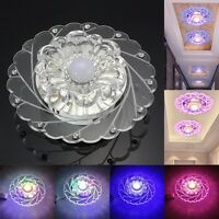 Modern Crystal 3W LED Ceiling Light Fixture Pendant Lamp Lighting Chandelier