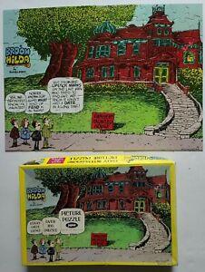 "Vtg Broom Hilda Haunted House Jigsaw Puzzle 1977 100 +Pcs COMPLETE Jaymar 18x13"""
