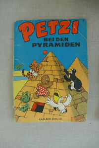 Petzi bei den Pyramiden, Carlsen Verlag, Din A5, Seebäär, Pelle , Pingo, Schiff