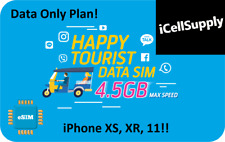 eSIM Thailand Travel Plan For iPhone Xs Xr 11 *Digital Delivery* 4.5GB Data