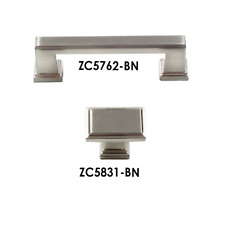 Modern Square Pulls Handles Knobs Kitchen Cabinet Hardware Brushed Nickel ZC5758