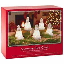 HMK Snowmen Bell Choir Musical Decorations with Light
