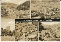"Ansichtskarte Pappenheim ""Pfefferberg, Röder, Ebersbachtal, Hohe Warte u.a."" s/w"