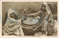 1920s Village life in India Hand Mill Corn Mehra & sons Peshwar Photo Postcard