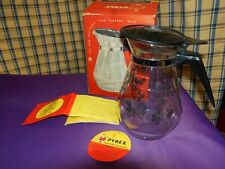 Vintage ~ Pyrex ~ 8 cup  Glass Tea Kettle/Jug ~ Boxed, with Tea Infuser